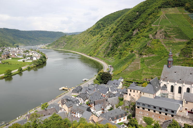 Beilstein ... the best place on the Moselle River (Mosel). Beilstein (Germany) is a tiny town sitting along the peaceful Moselle River (a.k.a. Mosel River in stock photo