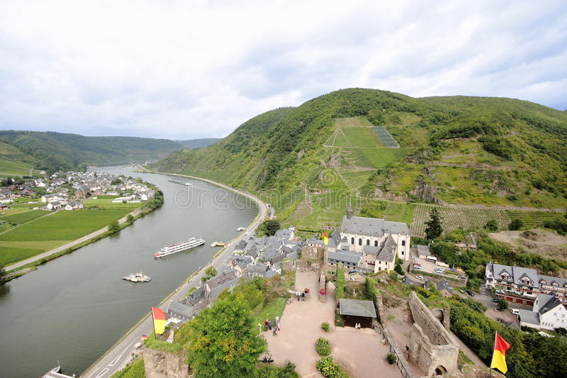 Beilstein ... the best place on the Moselle River (Mosel). Beilstein (Germany) is a tiny town sitting along the peaceful Moselle River (a.k.a. Mosel River in stock photos