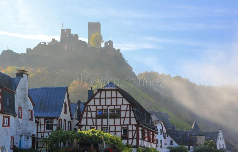 Beilstein ... the best place on the Moselle River Mosel. Rhineland-Palatinate, Germany. Beilstein Germany is a tiny town sitting along the peaceful Moselle stock images