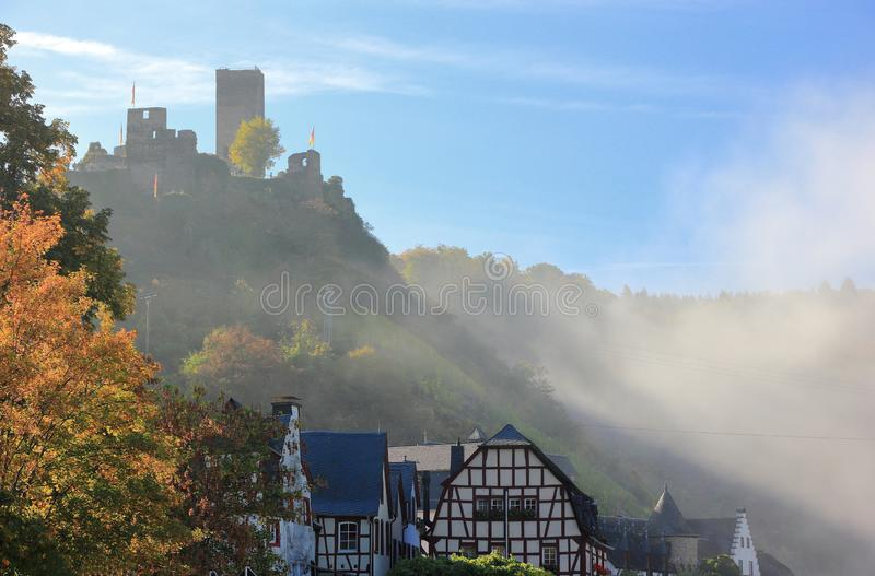 Beilstein ... the best place on the Moselle River Mosel. Rhineland-Palatinate, Germany. Beilstein Germany is a tiny town sitting along the peaceful Moselle royalty free stock photography