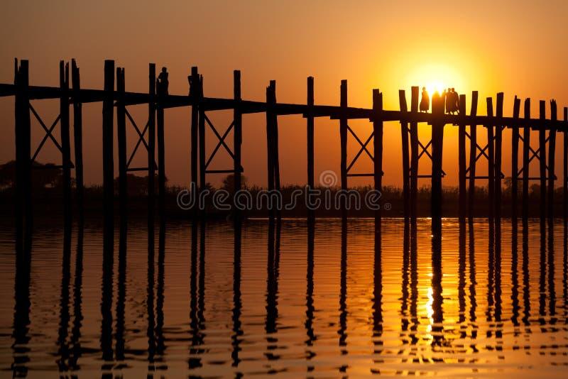 bein bridżowy Mandalay Myanmar u zdjęcie royalty free