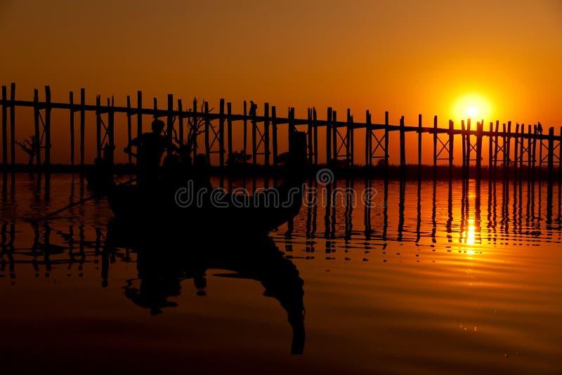 bein bridżowy Mandalay Myanmar u zdjęcia royalty free