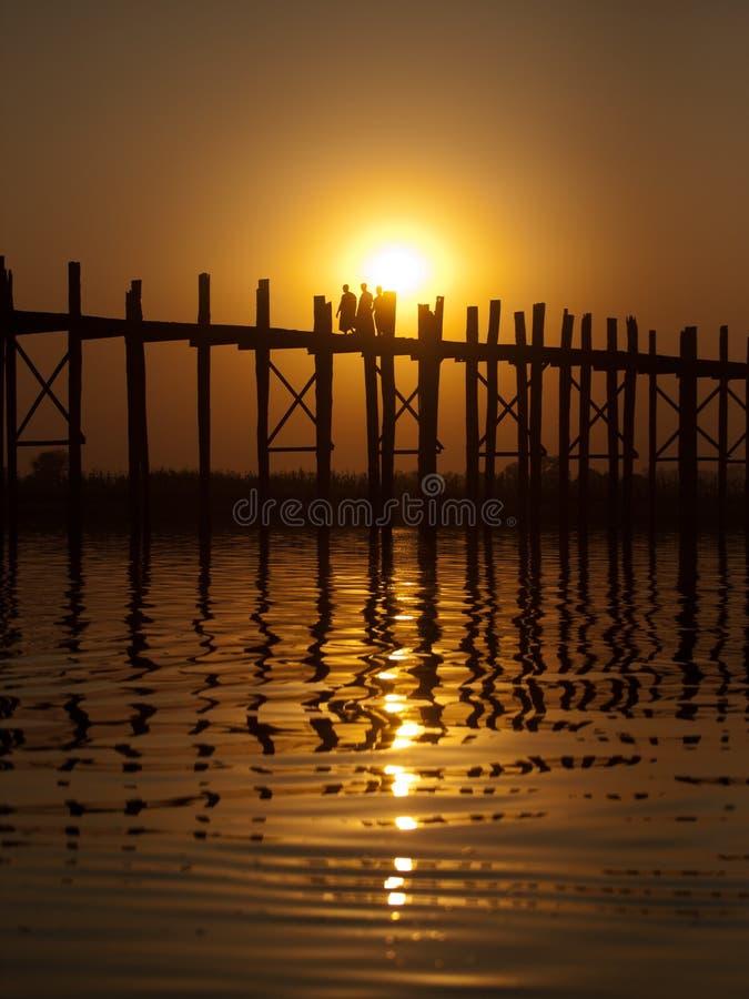 bein bridżowy Mandalay Myanmar u fotografia royalty free