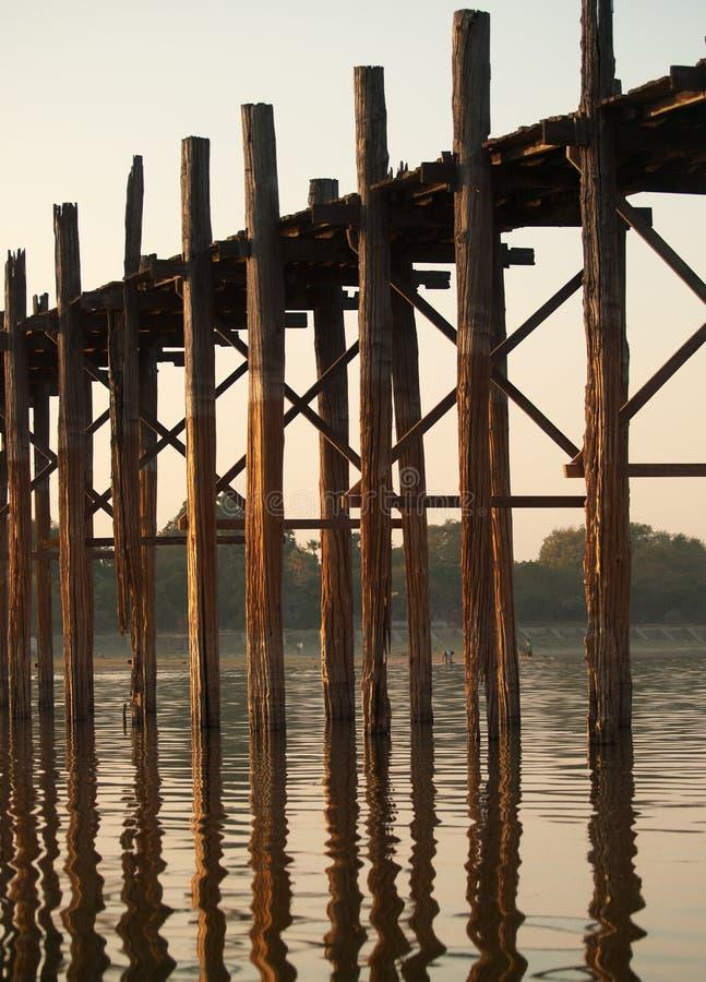 bein bridżowy Mandalay Myanmar u obrazy royalty free