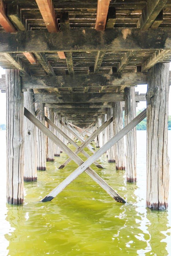 bein bridżowy Myanmar u zdjęcie stock