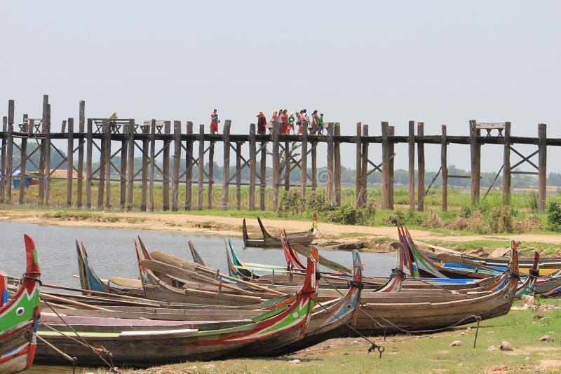 Bein Brigde, Amarapura Myanmar de U fotografía de archivo