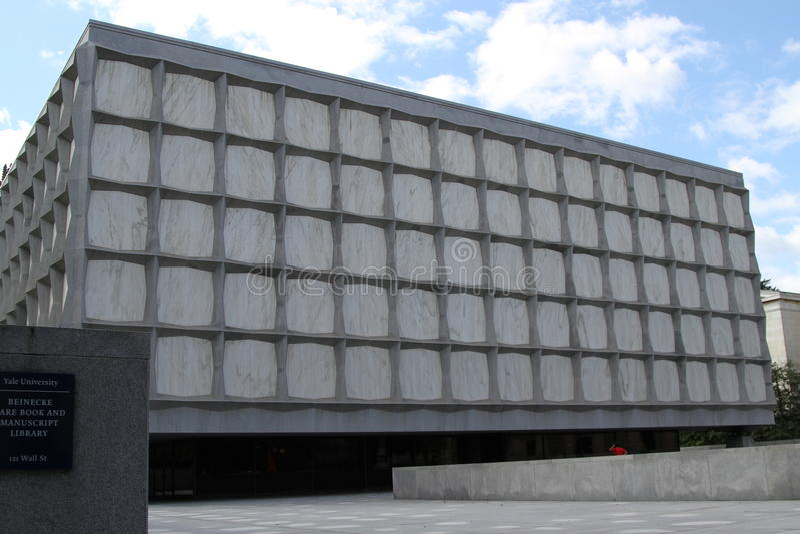 Beinecke善本和原稿图书馆,耶鲁大学图书馆,纽黑文,康涅狄格 免版税库存照片