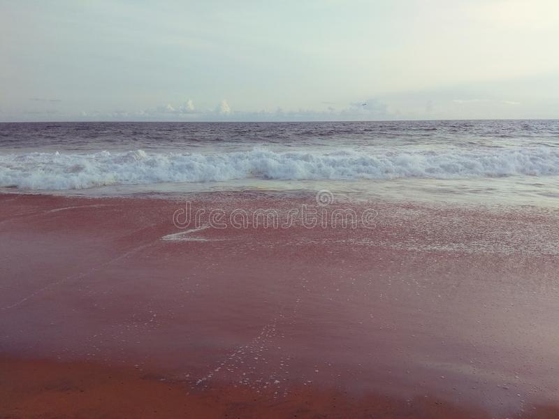 Kerala beaches of India- one of the cleanest and cold royalty free stock images