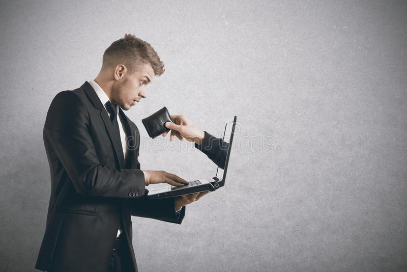 Being robbed by a scam stock image
