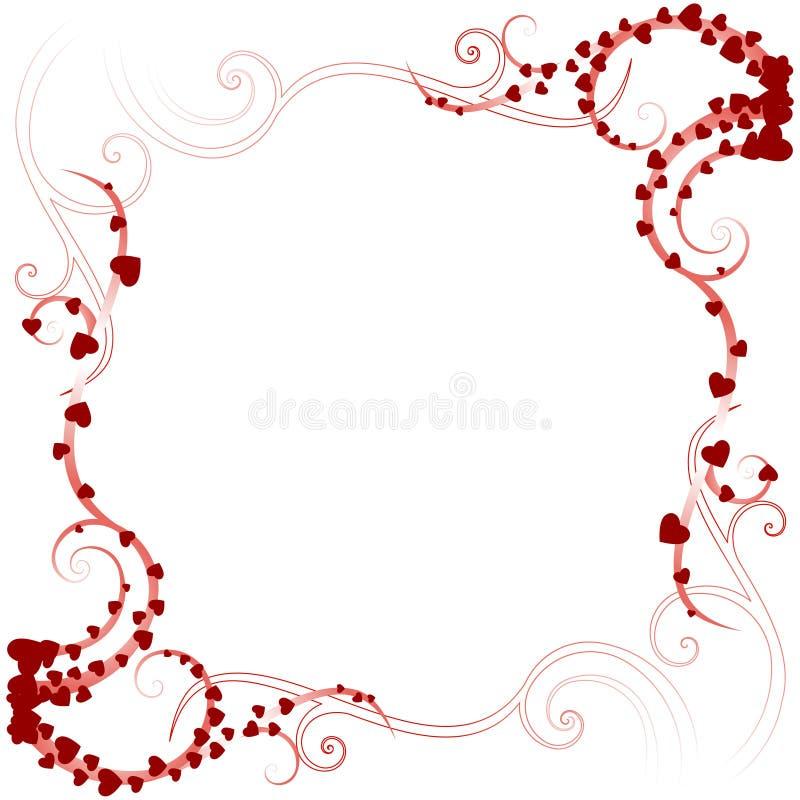 Beira 02 do amor de Swirly ilustração stock