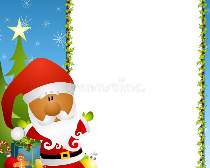 Beira 2 de Papai Noel ilustração do vetor