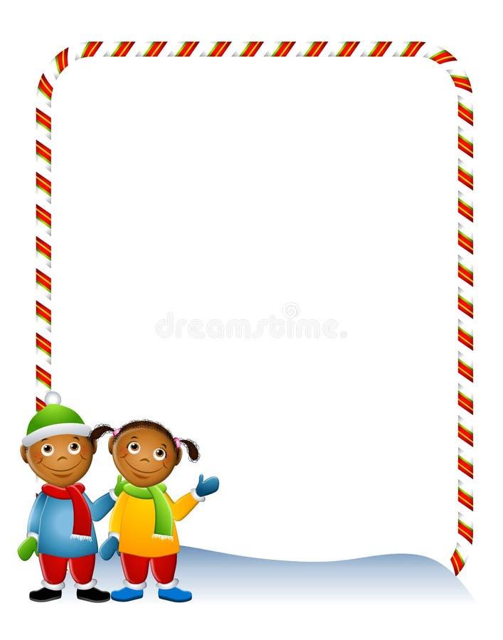 Beira 2 do inverno dos miúdos ilustração do vetor