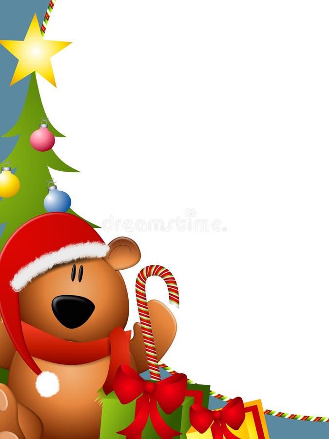 Beira 2 do urso do Natal ilustração royalty free