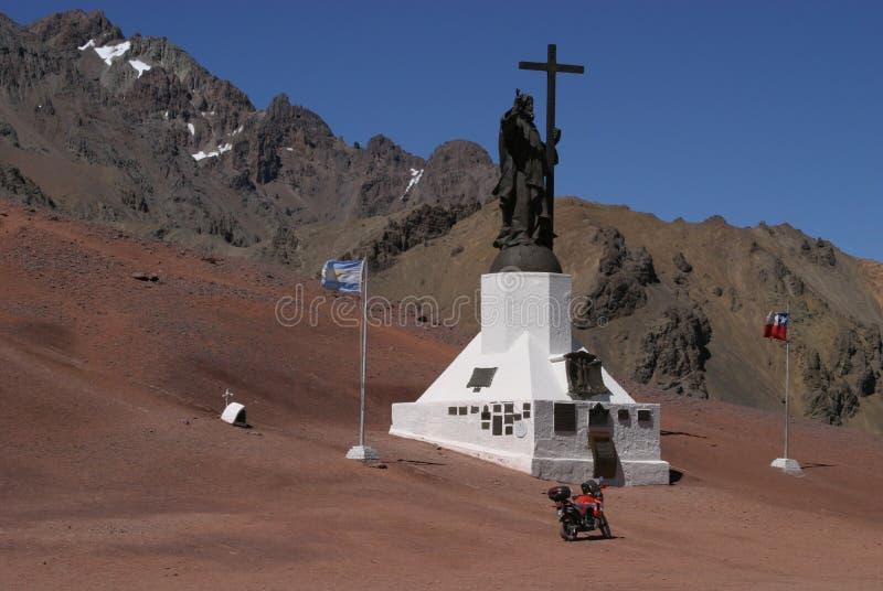 Beira Argentina - Chile imagens de stock