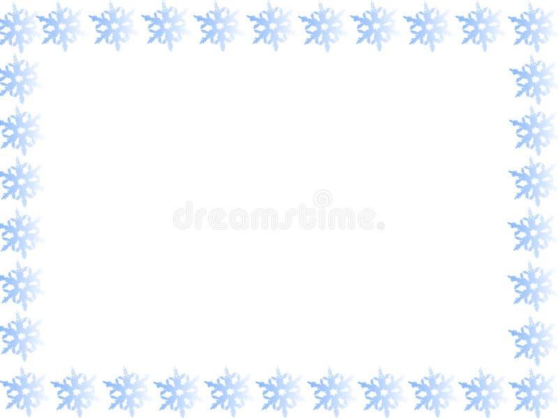 Beira azul do floco de neve ilustração royalty free
