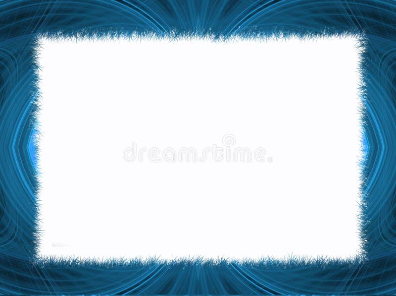 Beira azul do Fractal com espaço branco da cópia ilustração royalty free