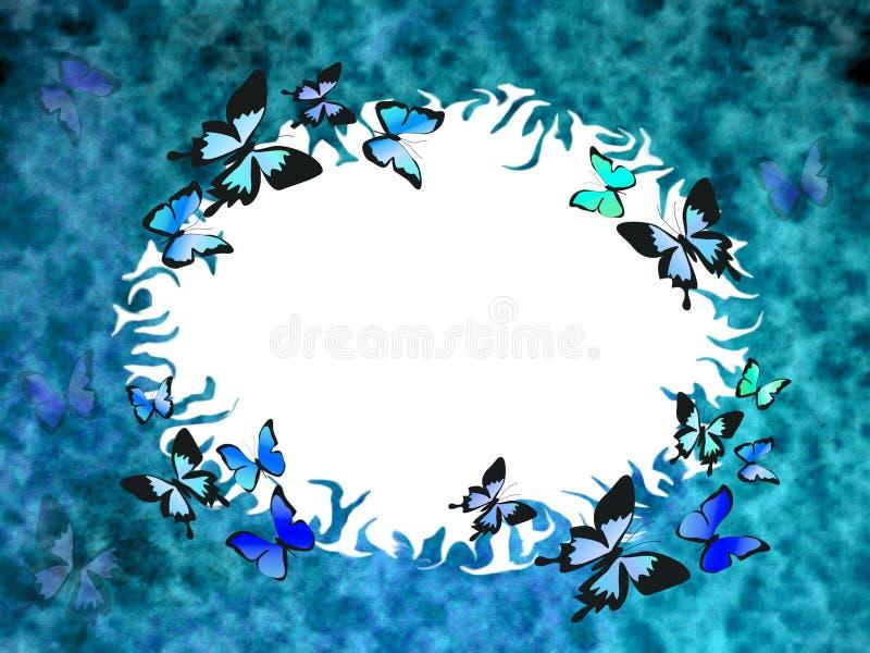 Beira azul do grunge ilustração royalty free