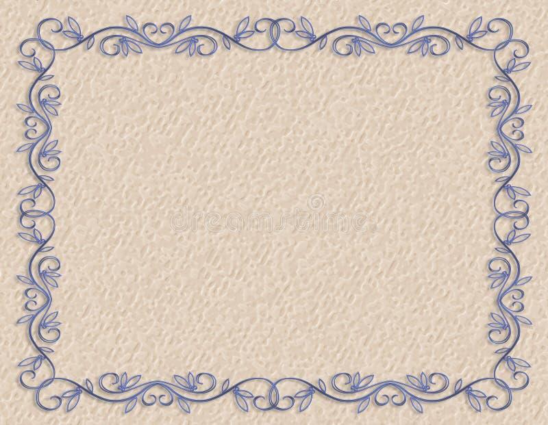 Beira azul no papel grosseiro ilustração royalty free