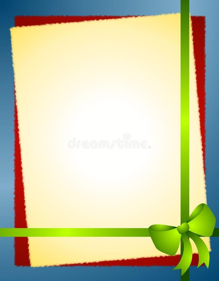 Beira azul verde da curva do Natal ilustração royalty free