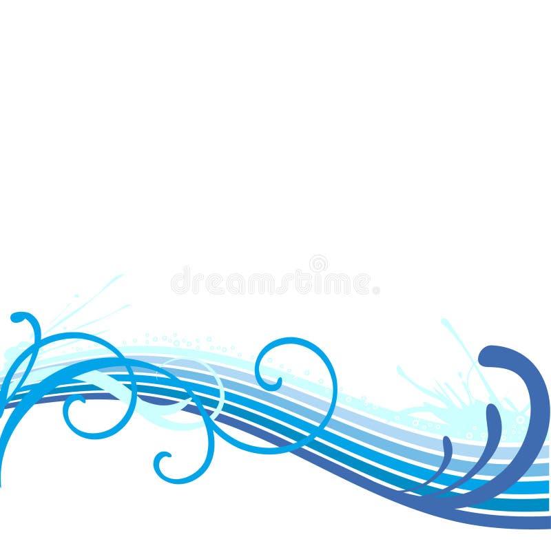 Beira bonita da onda ilustração stock