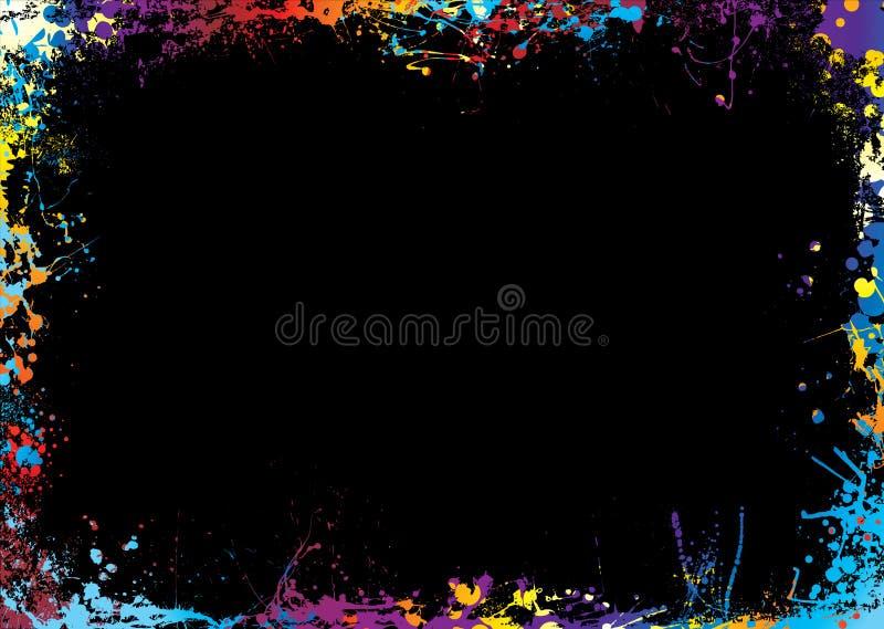 Beira brilhante do arco-íris ilustração stock