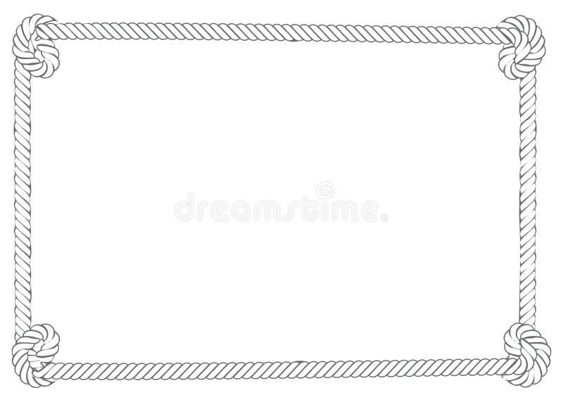Beira cinzenta da corda ilustração stock