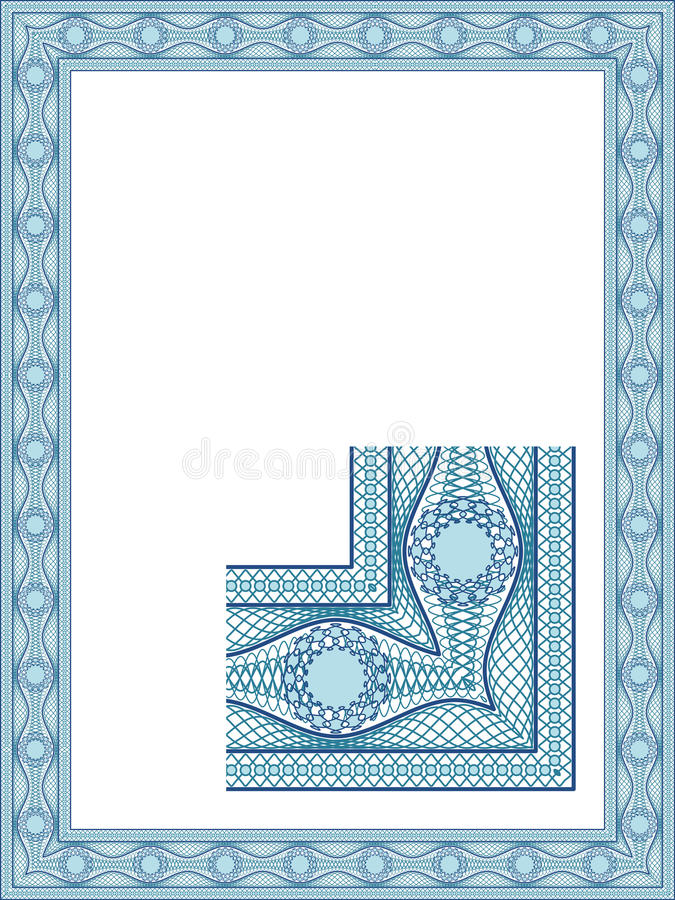 Beira clássica do guilloche ilustração royalty free