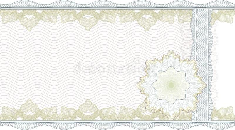 Beira clássica do guilloche para o certificado ilustração royalty free