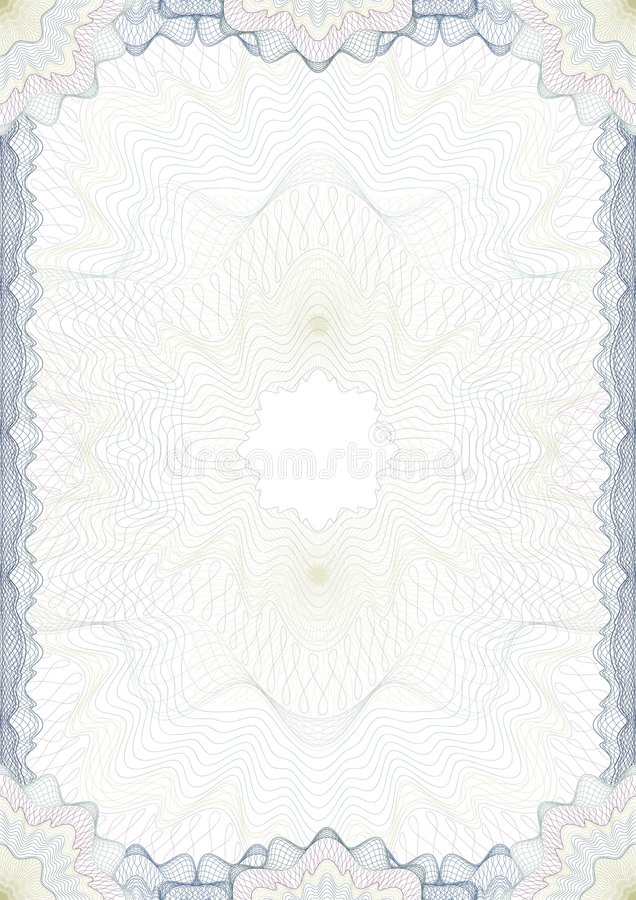 Beira clássica do guilloche para o diploma ilustração royalty free