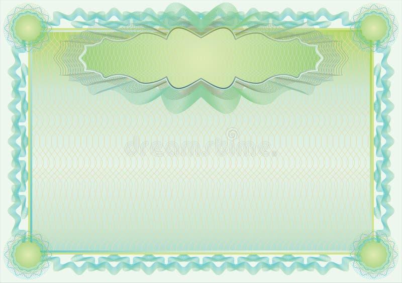 Beira clássica do guilloche para o diploma ou o certificado ilustração do vetor