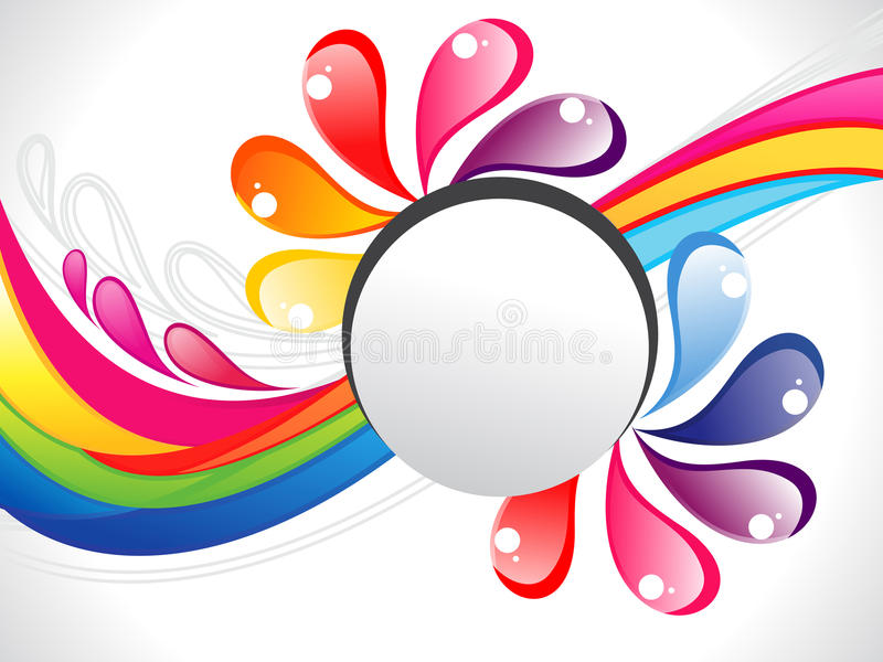 Beira colorida abstrata do líquido do arco-íris ilustração stock