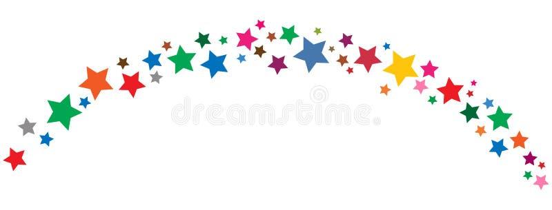 A beira colorida das estrelas gosta do vibgyor ilustração stock