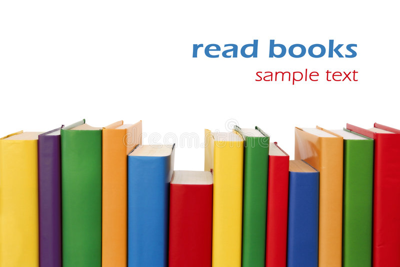 Beira colorida dos livros fotos de stock