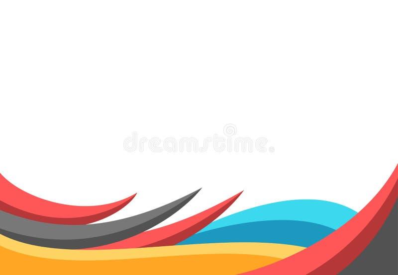 Beira colorida lisa moderna do estilo 3d ilustração royalty free
