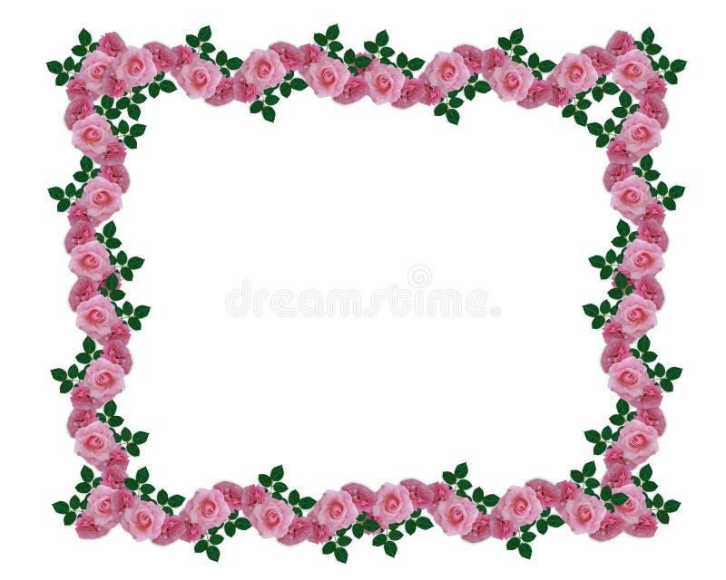 Beira cor-de-rosa da festão das rosas ilustração stock