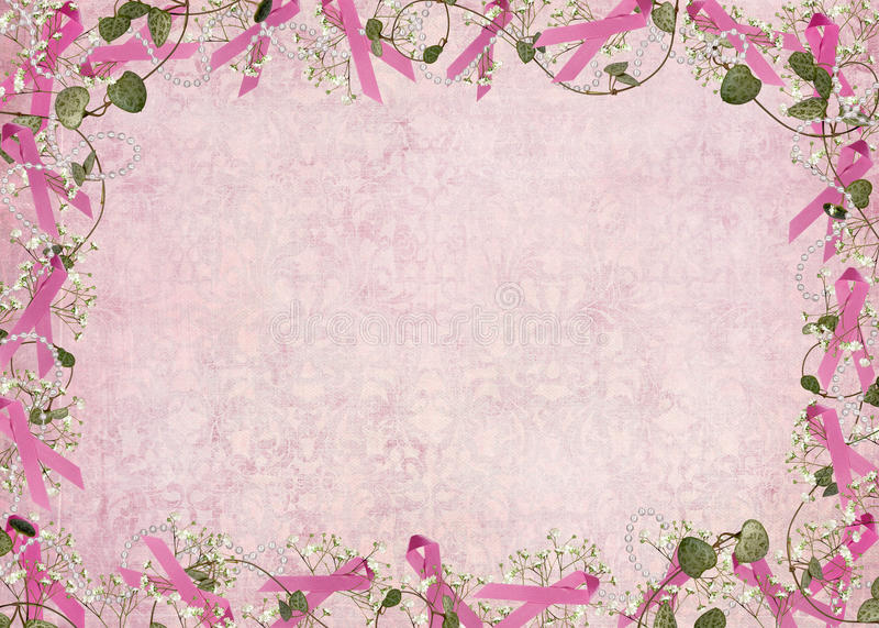 Beira cor-de-rosa da fita ilustração stock