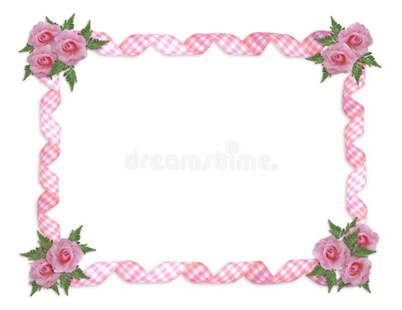 Beira cor-de-rosa das rosas   ilustração royalty free