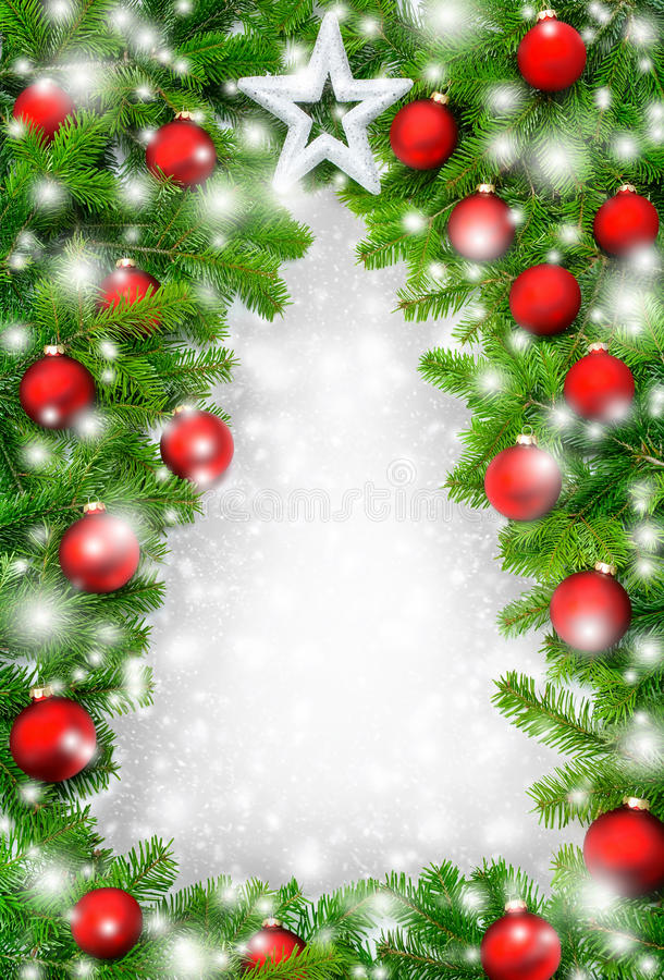 Beira creativa da árvore de Natal imagem de stock royalty free