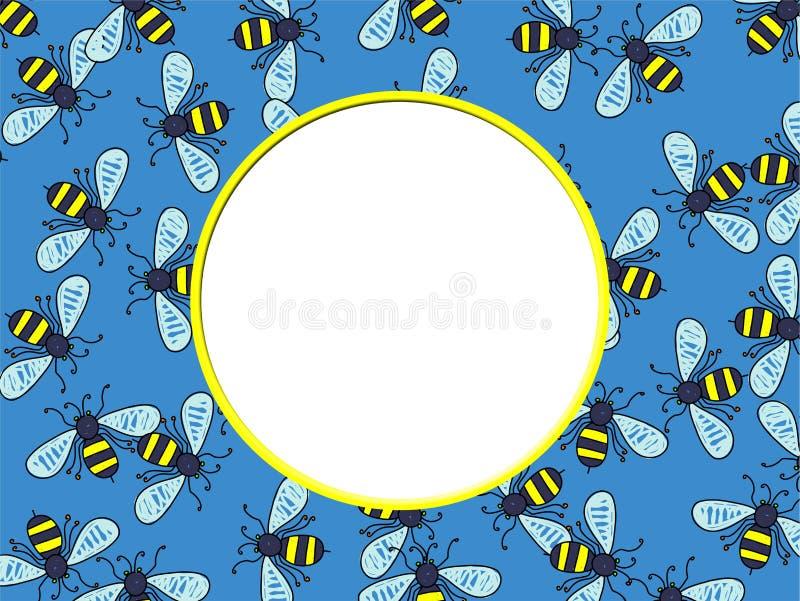 Beira da abelha ilustração royalty free