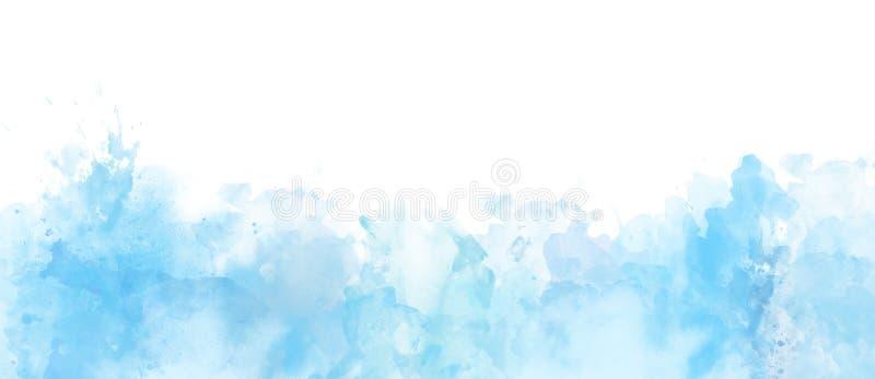 Beira da aquarela isolada no fundo branco, artístico ilustração do vetor