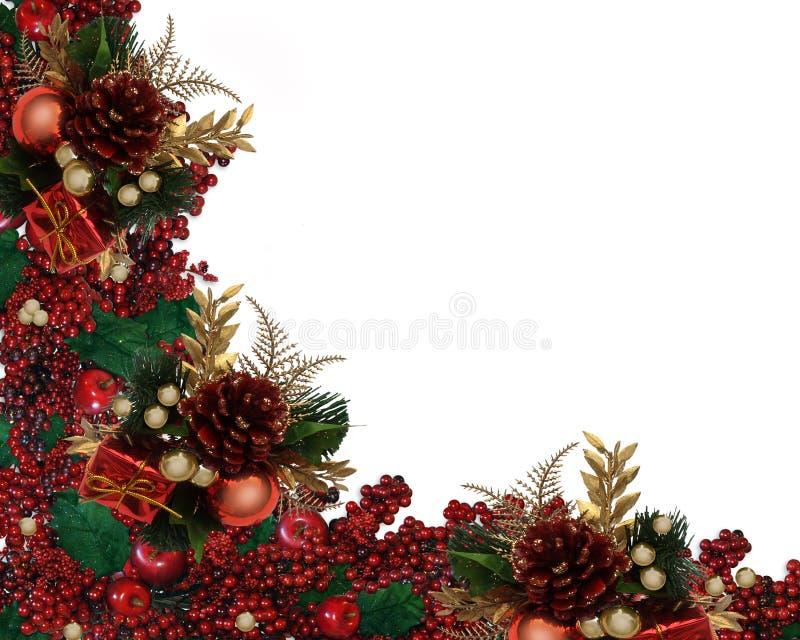 Beira da festão das bagas do azevinho do Natal ilustração do vetor