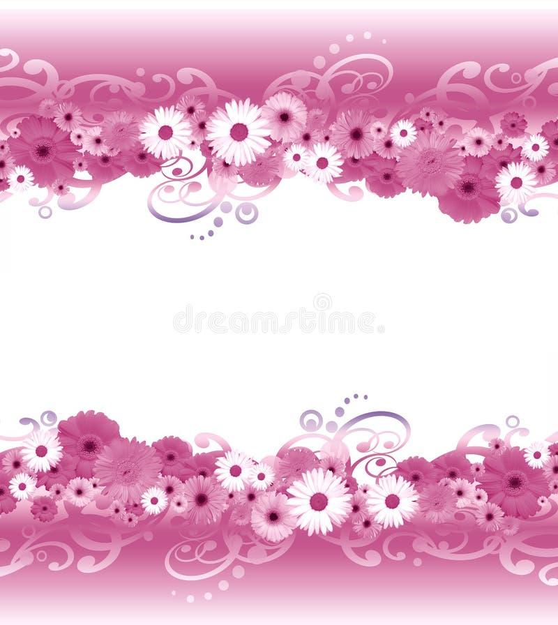 Beira da flor ilustração stock