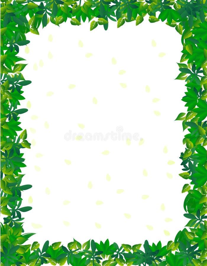 Beira da folha ilustração royalty free