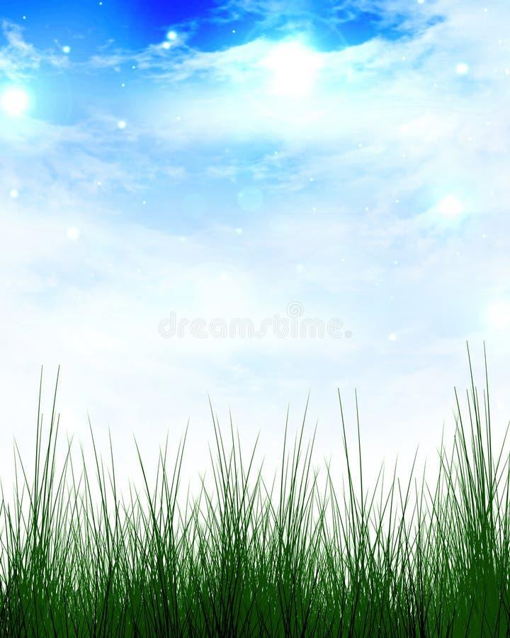 Beira da grama verde ilustração stock