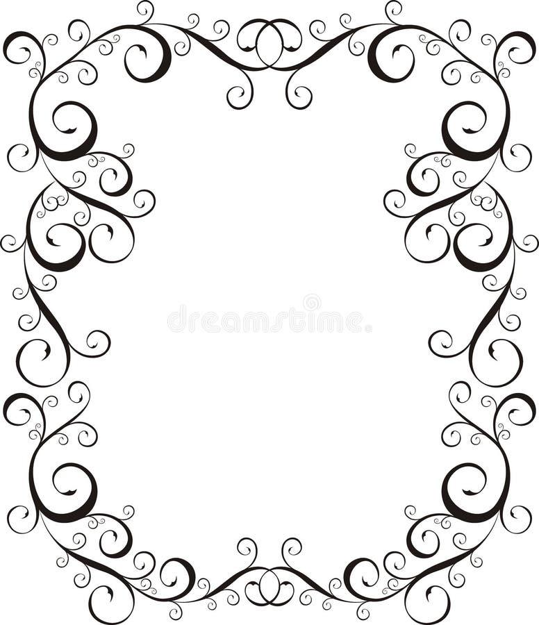 Beira da letra do quadro ilustração royalty free