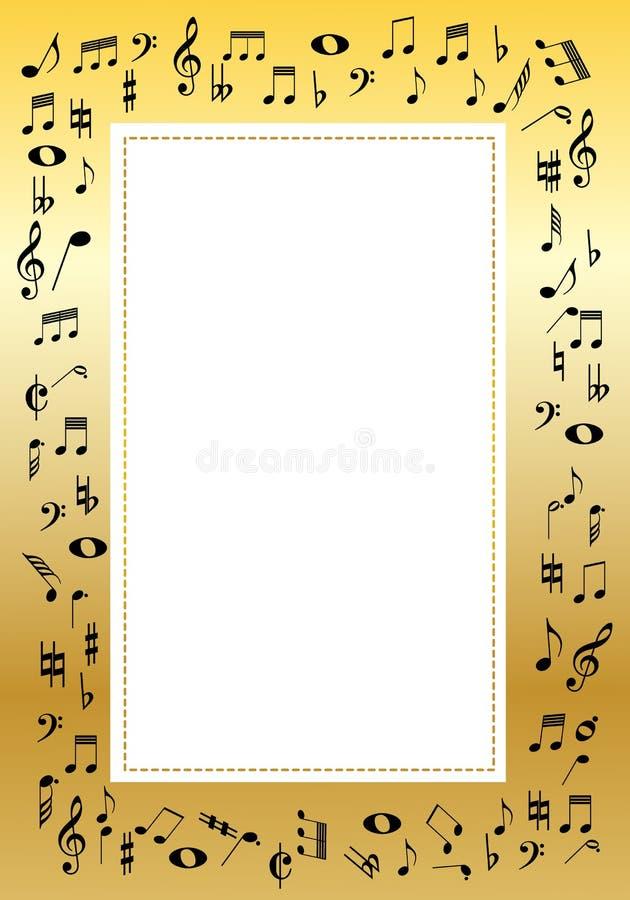 Beira da música ilustração royalty free