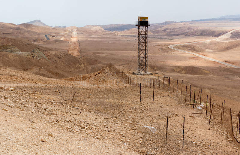 Beira da paz de Israel Egipto fotografia de stock royalty free