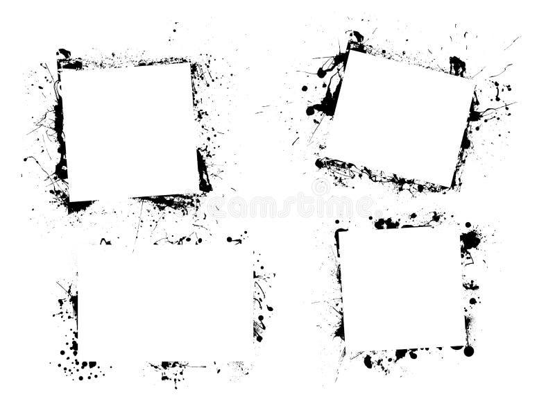 Beira da pintura da tinta de Splat ilustração stock