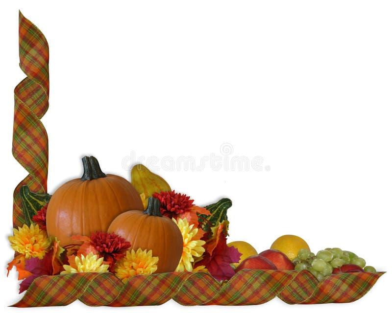 Beira das fitas da queda do outono da acção de graças