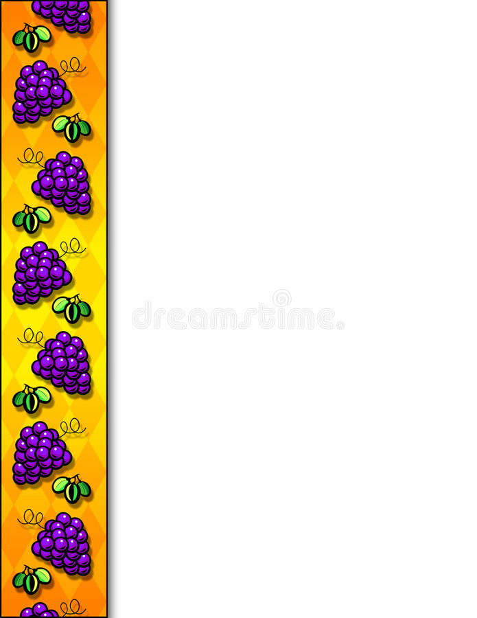Beira das uvas ilustração stock